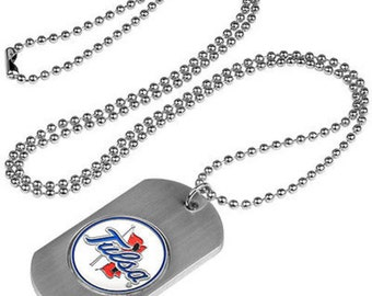 Tulsa Golden Hurricane Stainless Steel Dog Tag Necklace