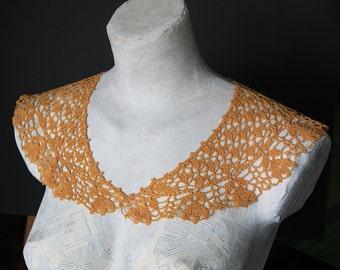 yellow Lace collar crochet knitting