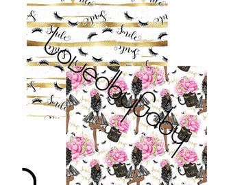 "LovedbyGaby scrapbook paper ""Happy mugs gold"""