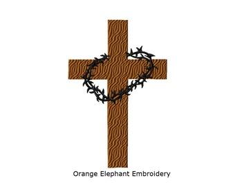 Cross Thorns Unique Urban Machine Embroidery Design digital File