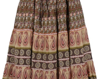Tribal Printed Long Cotton Skirt