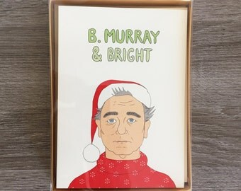 SET OF 5 - Merry and Bright - Funny Holiday Card - Funny Christmas Card - Christmas Card Set - Holiday Card Set - Pop Culture Cards