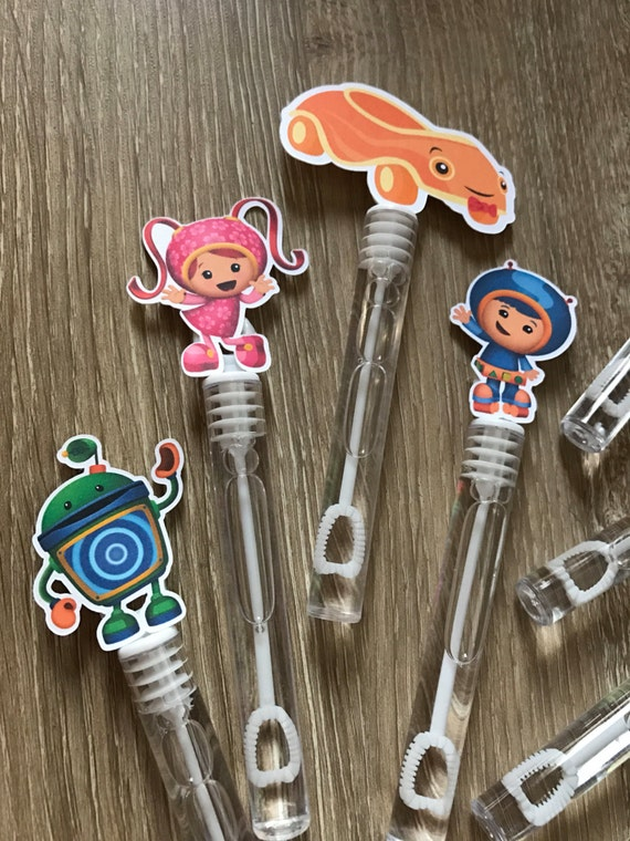 Team umizoomi party favor mini bubble wands geo millie bot for Mini bubble wands