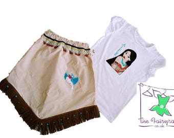 Pocahontas Inspired Skirt and Personalised Tee