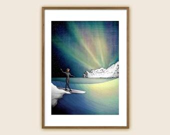 "Surf Art Print: ""Arctic Surf"""