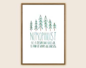 "Forest Art Print: ""Nemophilist"""