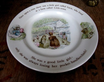 Beatrix Potter Plate, Mrs Tiggy Winkle, Hedgehog Gift, Wedgwood, F Warne And Co, Vintage Beatrix Potter, Mrs Tiggywinkle, Lake District