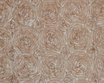 """Champagne Rosette Fabric 