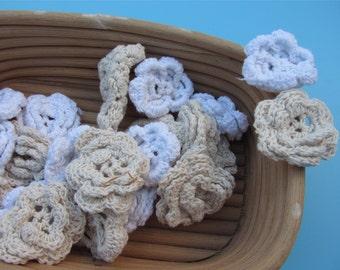10pcs Cotton Crochet applique,4.5cm flower applique