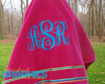 Monogrammed Beach towel EXTRA LARGE - Bridesmaid Gifts - Personalized Beach Towel - Embroidered Beach Towel - Destination Wedding
