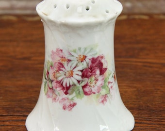 Antique Hat Pin Holder ~ Pink & White Flowers ~ Embossed Victorian Designs ~ Circa Early 1900's ~ Nice Shabby Chic Piece!