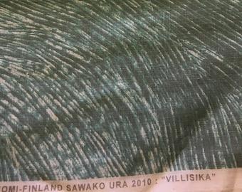 "Marimekko ""Villisika"" linen fabric, light blue, by the half-yard"