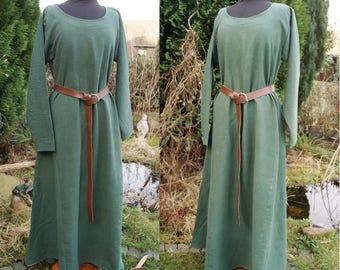 Medieval dress in dark green, vikings, reenactment, slavic, celtic, larp, fantasy, elves