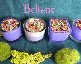 Purple candle wax soy ~ Sabbath Beltane ~ Magnolia, geranium, lavender, patchouli ~ soy wax