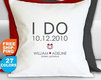 Wedding Gift ideas Personalised Pillow Case for Couple, Wedding gift,  Engagement Gift, Romantic