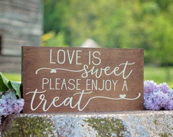 Dessert Sign | Wedding Signage | Wooden Dessert Sign | Wedding Candy Bar Sign | Dessert Table Signage | Wooden Wedding Signage | Rustic