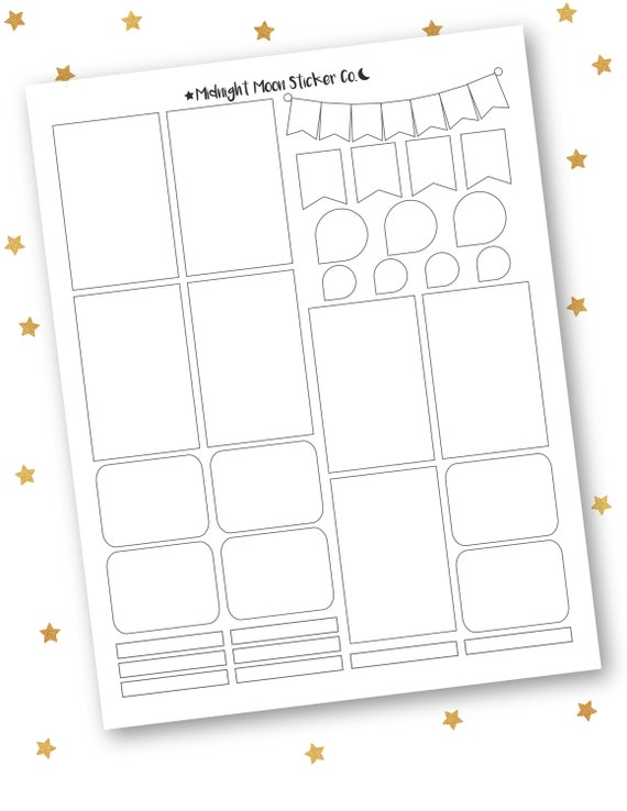 Big Happy Planner Assorted Printable Template
