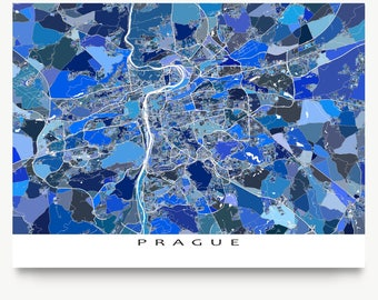 Prague Poster, Prague Czech Republic Map Print, Praha, Art Map Gift