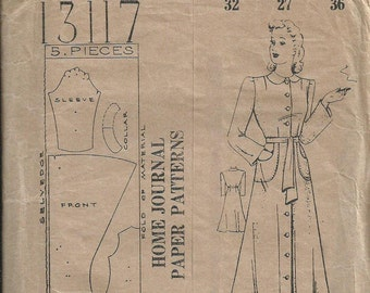 Dressing Gown - Home Journal Pattern 13117 - 1940s