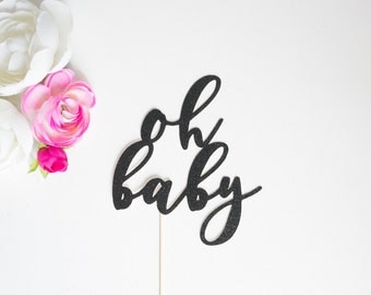 Oh Baby Cake Topper  l  Gender Reveal Cake Topper  l  Gender Reveal Party  l  Baby Shower Cake Topper  l  Oh Baby Topper  l  Boy or Girl?