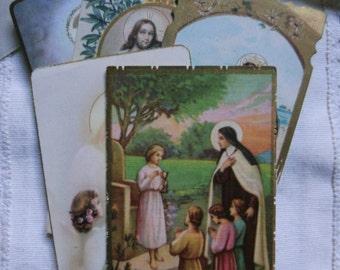 Vintage Communion Cards.Ephemera.Communion dress.Catholic.Jesus.Angels.Vintage Catholic.Religious Cards.Holy Card. Religious document.