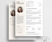 Modern Resume Template 05 with Matching Cover Letter - Modern CV Template with Photo - Word Resume Template  - Resume Template With Photo
