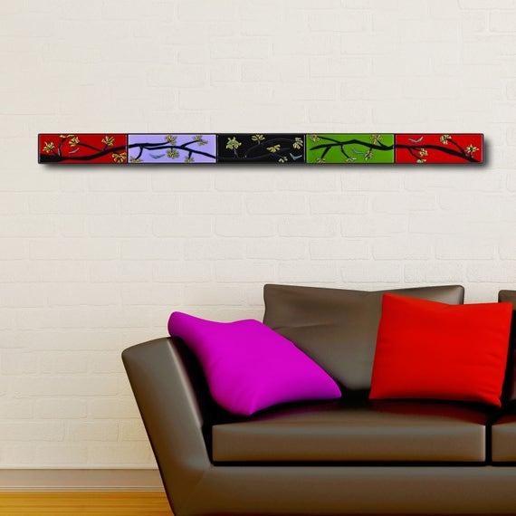 tree branch wall decor horizontal 4 ft long narrow wall art. Black Bedroom Furniture Sets. Home Design Ideas