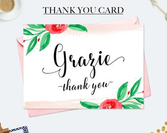 Wedding thank you cards, bridal shower thank you, bridesmaid thank you, mothers day card, bachelorette card, thank you note, card for her