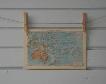 1941 Vintage Australia & Oceania Map