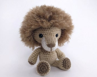 PATTERN: Crochet lion pattern - amigurumi lion pattern - crocheted lion  pattern - lion toy tutorial - PDF crochet pattern