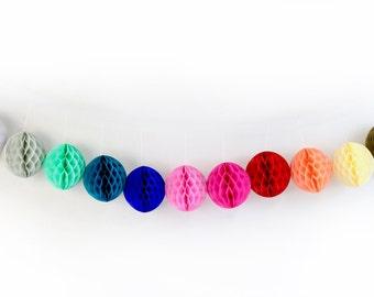 "6"" Honeycomb Balls, Tissue Honeycomb, Paper Pom Pom, Party Decor, Wedding Decor, Baby Shower, Honeycomb Decor, Tissue Pom Poms"