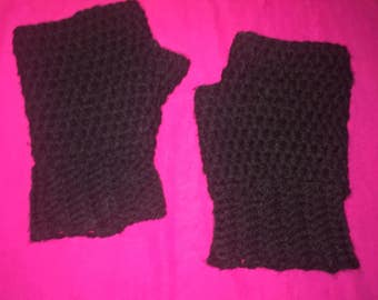 Crochet Fingerless Gloves Mittens Wrist Warmers