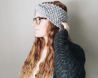 Chunky Knit Turban Headband Twisted Textured Ear Warmer || THE WINTERBERRY