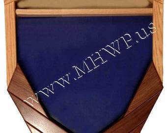 Air Force Logo  Master Sergeant (E7) Shadow Box - 3x5 Flag