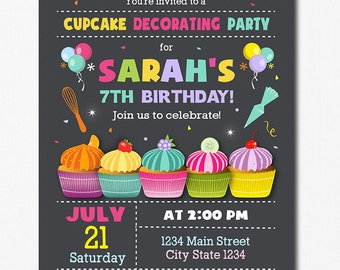 Cupcake Invitation, Cupcake Decorating Invitation, Cupcake Invite, Mix and Cook Invitation,Printable