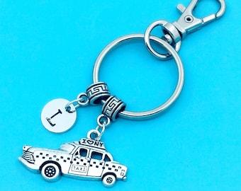 Taxi Keychain, Taxi Key Chains, Custom Any Charm, Taxi Keyring, Personalized Keychain, Taxi Key Rings, Charm Keychain, Taxi Pendant Jewelrys