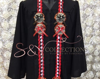 Personalized graduation money lei with your school color