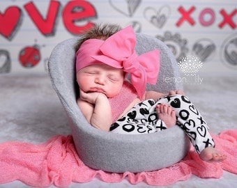 BUBBLEGUM Gorgeous Wrap- headwrap; fabric head wrap; pink head wrap; boho; newborn headband; baby headband; toddler headband