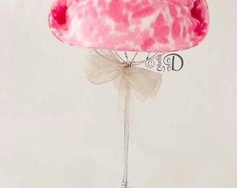 Fleece Hat, Fleece Fedora, Fleece Bucket Hat, Fleece Cloche, Cherry Blossom Hat, Pink Hat, Fedora, Bucket Hat, Hat, Cloche