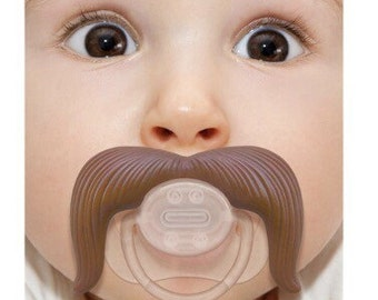 Mustache Pacifier, Mustache Baby Pacifier, Cowboy, Cowboy Pacifier, Cowboy mustache pacifier