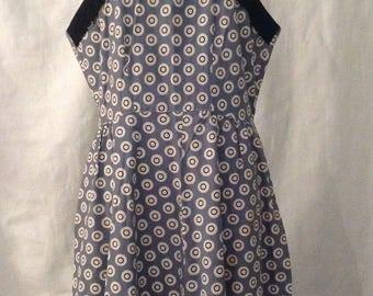 Rose Lee vintage 1940s 40's / 50s slate blue polka dot SUN DRESS plus size xxl