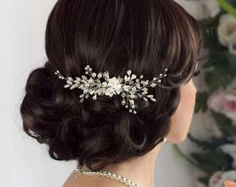 Bridal hair comb Bridal comb Pearl hair comb Wedding Hair piece Bridal headpiece Bridal hair accessories Wedding Hair jewelry Wedding comb