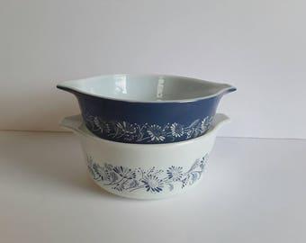 Vintage Pyrex Colonial Mist Casserole Dishes #471 #472