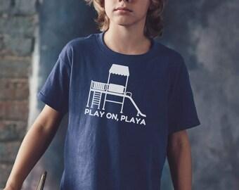 Youth T-Shirt, Kid's Tee, Kid's T-Shirt, Children's Shirt, Child's T-Shirt, Tear Away Label, Cotton T-Shirt, Funny T-Shirt, Play On Playa