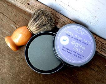 Men's Shave Soap: Mountain Rain | Farm Fresh | Pastured | Palm-Free Goat Milk Soap