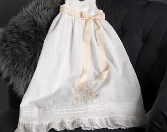 Monogram Cotton Christening Gown