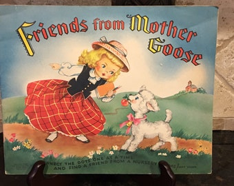 Friends from Mother Goose Daisy Mager Dot-to-Dot book 1951