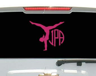 Gymnast with Monogram Decal