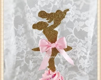 Baby Shower Cupcake Toppers - Baby Shower Party Decorations - Baby Shower Party Decor - Ballerina Cupcake Toppers - Girl Baby Shower