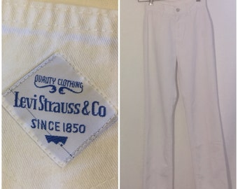 Levi Strauss & Co White Jeans